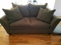 Raymour & Flannigan living room couch microfiber set in
