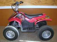 This electric ride on ATV was brought new for a two