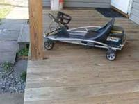 RAZOR GROUND FORCE GO KART. IT NEEDS A BATTERY. $50
