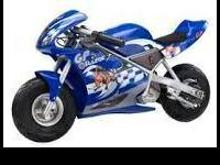 I have a razor pocket bike very cool and is pretty fast