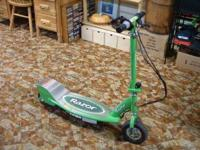 A working E200 Razor green scooter. Comes with