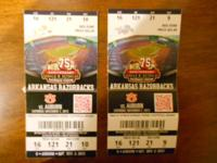TWO Razorback Football Tickets for Saturday November