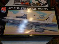 AMT Ertl RC-135V Stategic Recon jet model, 1/72 scale,