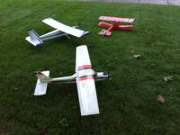 Three RC airplane for sale as a group, they have not