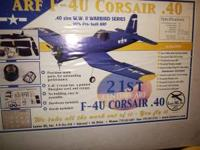 CORSAIR 40 SIZE ARF BY LANIER IN THE BOX WING SPAN 55""