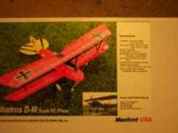 "Albatros D.III WING SPAN 40"" PLANE IN THE BOX PH NO"