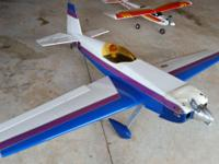 Very large RC plane with 4 stroke 4 cylinder motor and