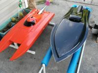 Rc gas catamaran ready to run 30.5cc 1048 carb no radio