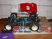 RC10 GT Nitro RC car , engine is pulled off ,i believe