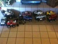 This is an assortment of different rc cars most of them