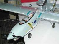 MODEL AIRPLANE TAMECAT RC WITH ENGINE , SERVOS HAVE