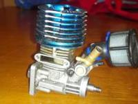 This is a Magatec rc motor it needs a pull start,a