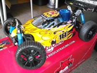 New 1/8 scale Cyclone XTR nitro powered buggy The