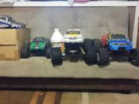 I have multiple RC NITRO TRUCKS and PARTS for sale I