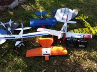 lot of rc planes 8 planes total plus 2 controllers