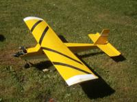 For sale  2 radio controlled air planes   yellow plane