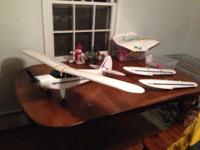 RC super cub trainer airplane with 4ft wingspan, also