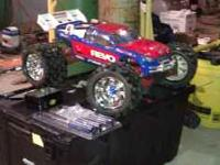 traxxas revo....almost all aftermarket...vantage carbon