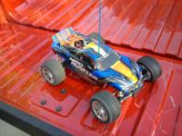 traxxas nitro rustler. Only been driven a couple times.