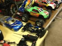 RC parts and trucks. I obtained them in a trade so I do