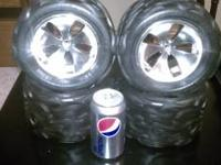 4 rc truck tires 7.5 inches tall 4.5 inches wide and i