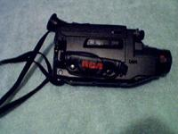 RCA camcorder, charger,14 tapes,bag,remote,cables,TV