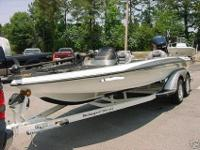 THE BOAT HAS A 74 lb. MINN KOTA TROLLING MOTOR. IT HAS