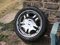READY TO ROLL WHEEL AND TIRE PACKAGE, DIABLO 22 INCH