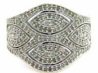 Genuine.75 ct Diamond Ring Sterling Silver - 27614