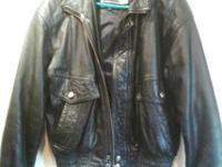 This is a mint condition Black Wilson Leather Jacket