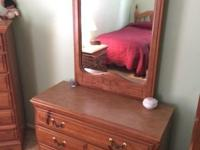 Real Oak Bedroom set in great condition! Includes a