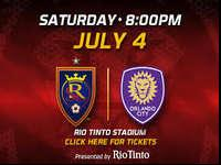 Come see RSL take on Kaka and Orlando City as they come