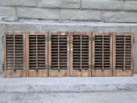 REAL WOOD Shutters for INTERIOR of homes. In off white