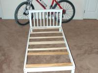 Im selling my dogs wooden bed frame, you can buy a crib