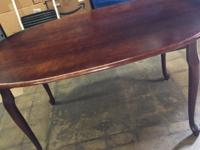 Real Wood Dining Room Table with 3 Chairs (USED)