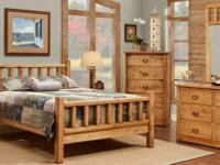 This bedroom set is solid wood, REAL WOOD! This is a