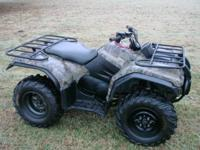 2003 Yamaha Kodiak 450 Camo 4x4. Excellent condition on