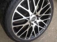 REALLY NICE NEW CYCLONE 4 LUG RACING RIMS. NICE USED