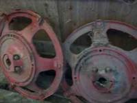 rear wheels with center hubs from Farmall H $50.00 for