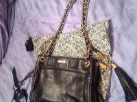 Rebecca Minkoff Black Leather Swing Shoulder Bag.