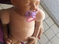Reborn baby doll with clothes and magnetic pacifier