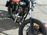 1972 Triumph bobber professionally built. Bike has less