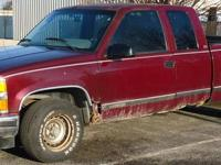 A 1995 Chevy expanded cab 2wd vehicle. This has a