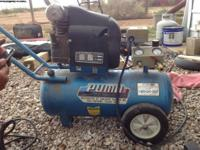 7.5 gallon air compressor is $50. Craftsmen industrial