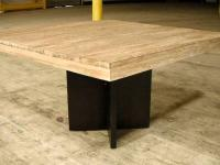 This beautiful dining table is made of reclaim teak