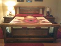Reclaimed Barnwood Queen size Bed and two(2)End Tables