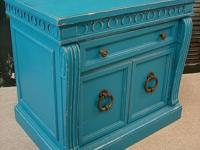 Reclaimed Vintage Distressed Water Painted Small Chest