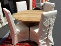 "Reclaimed 48"" round dinette table made from Elm wood"