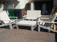 Reclaimed pallet patio chairs separate colors (ebony