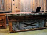 This Office set comes with this Barn Wood desk -AND IS